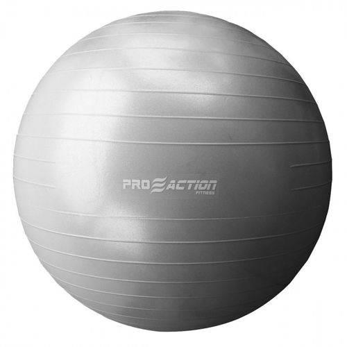 Gym Ball Bola Suica 65 Cm Anti Estouro em PVC Cinza Proaction