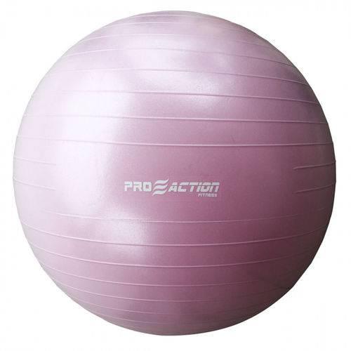 Gym Ball Bola Suica 65 Cm Anti Estouro em PVC Rosa Proaction