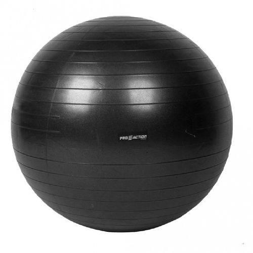 Gym Ball Bola Suica 75 Cm Anti Estouro em Pvc Preto Proaction