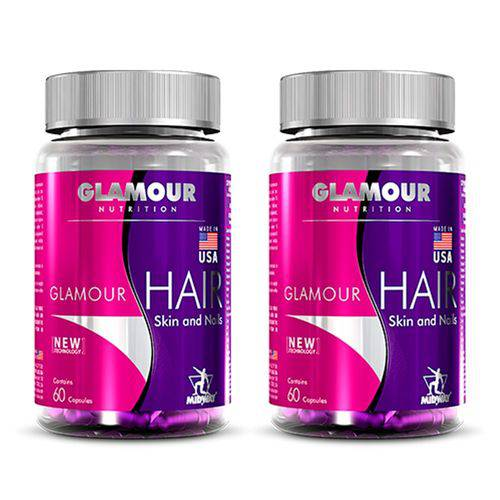 Hair Skin And Nails Glamour USA - 2 Un de 60 Cápsulas - Midway