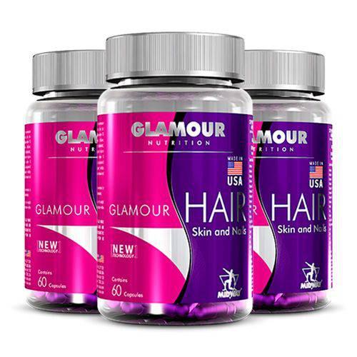 Hair Skin And Nails Glamour USA - 3 Un de 60 Cápsulas - Midway