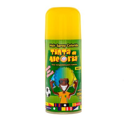Hair Spray Colorido Amarelo 120 Ml - Tinta da Alegria
