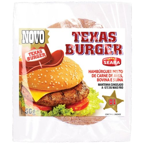 Hamburger Seara 56g Texas Burguer Tradicional