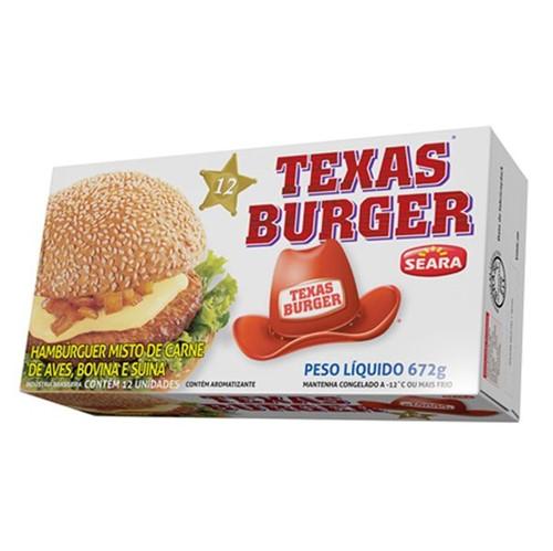 Hamburger Seara 672g Texas Burguer Tradicional