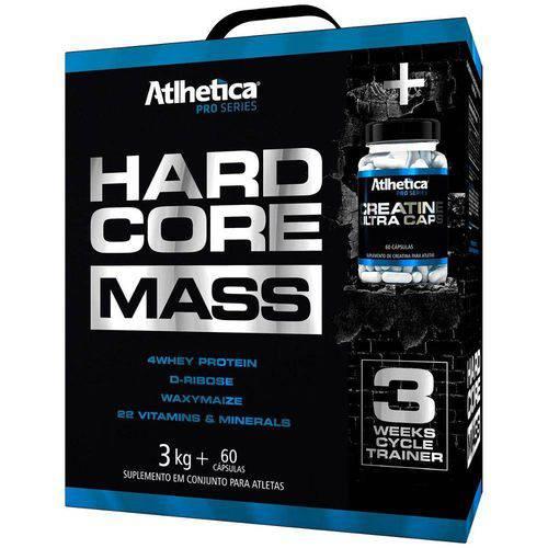Hardcore Mass 3kg + Creatina 60 Cápsulas - Atlhetica Nutrition