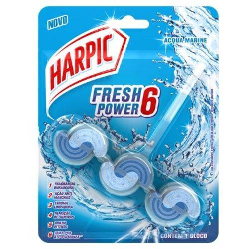 Harpic Fresh Power 6 Acqua Marine com 1 Bloco