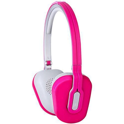 Headphone Dobrável com Isolador e Controle de Volume e Mic Cor Rosa Altec