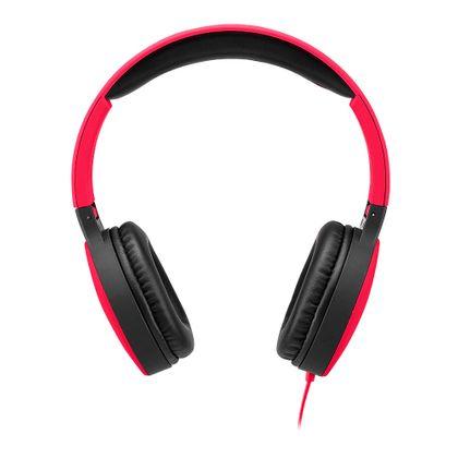 Headphone Dobrável New Fun P2 Multilaser Vermelho - PH270 PH270