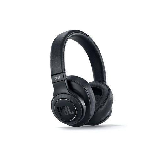 Headphone Jbl Bluetooth com Cancelamento de Ruido Preto - Duetbtnc