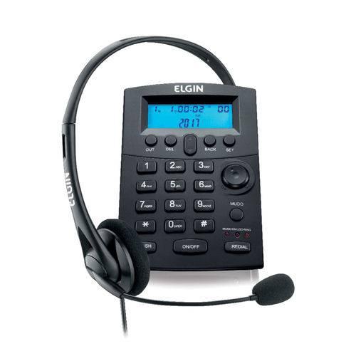 Headset com Teclado e Identificador Preto Hst8000 42hst80000000 Elgin