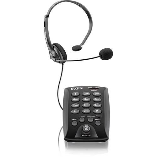 Headset com Teclado - Hst 6000 - Preto - Elgin