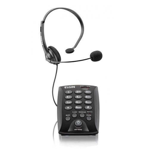Headset com Teclado HST 6000 Preto ELGIN