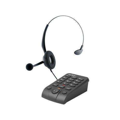 Headset Intelbras Icon 4013330 Hsb50 Telefone Digital Emborrachado