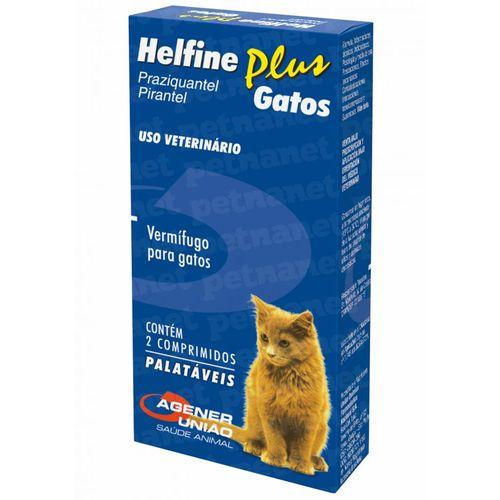 Helfine Plus Gatos – 2 Comprimidos _ Agener Unidade