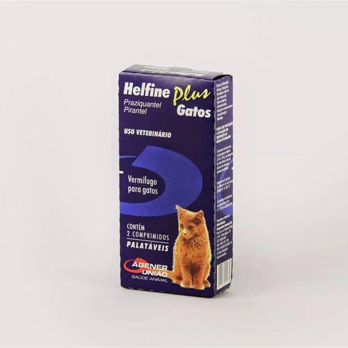 Helfine Plus Gatos Cx com 2 Comprimidos