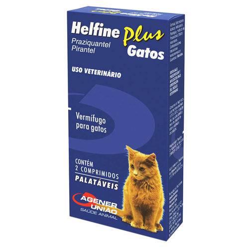 Helfine Plus Vermífugo para Gatos Agener 2 Comprimidos