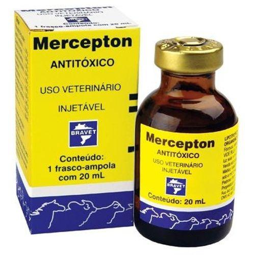 Hepatoprotetor Bravet Mercepton para Cães, Gatos, Leitões, Potros, Bezerros, Caprinos, Bovinos, Equinos e Muares 20ml