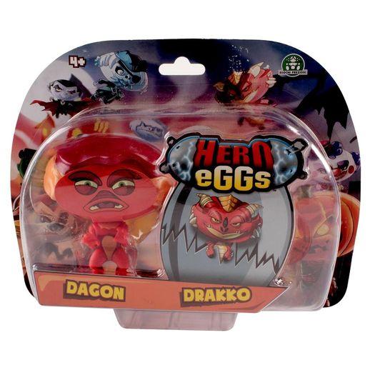 Hero Eggs Double Blister Dagon e Drakko - Candide