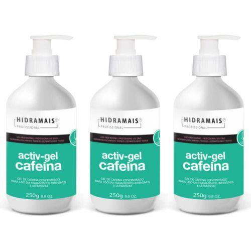 Hidramais Activ-gel Cafeína Gel P/ Massagem 250g (kit C/03)