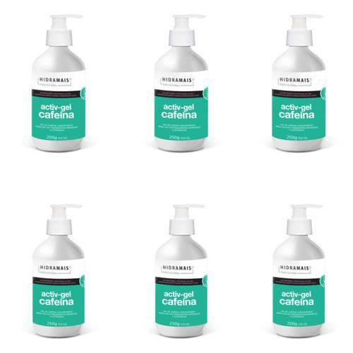 Hidramais Activ-gel Cafeína Gel P/ Massagem 250g (kit C/06)