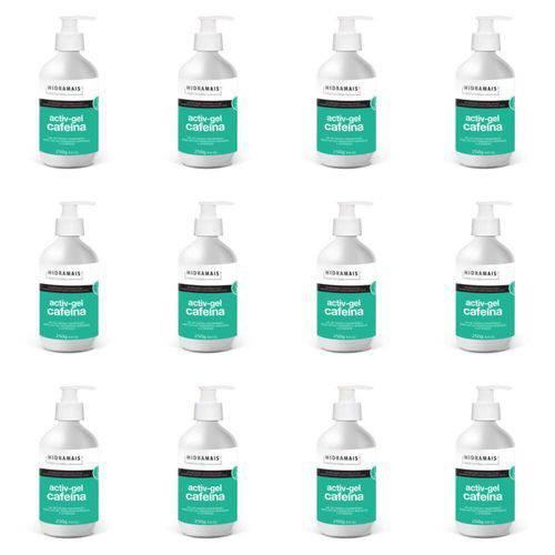 Hidramais Activ-gel Cafeína Gel P/ Massagem 250g (kit C/12)