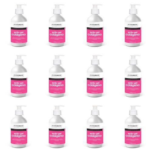 Hidramais Activ-gel Colágeno Gel P/ Massagem 250g (kit C/12)