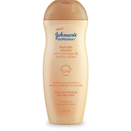 Hidratante Johnsons Soft Lotion Nutrição Intensa 200ml