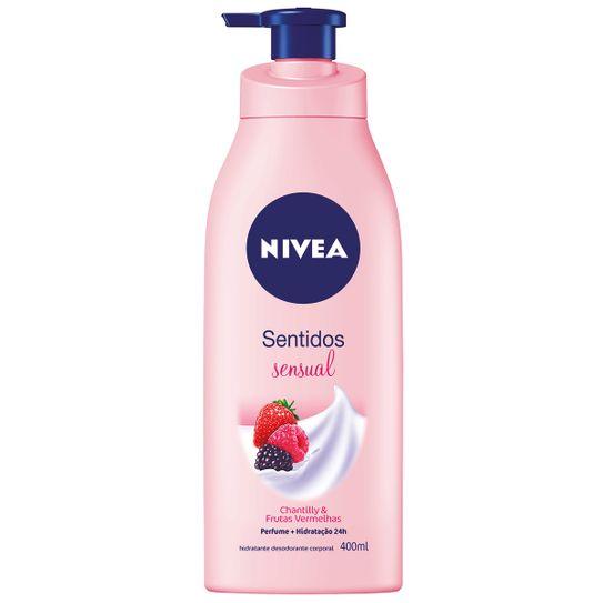 Hidratante Nivea Sentidos Sensual Chantilly & Frutas Vermelhas 400ml