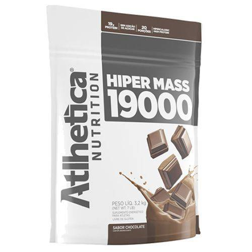 Hiper Mass 19000 Refil - 3200g Chocolate - Atlhetica Nutrition