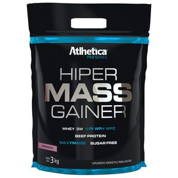 Hiper Mass Gainer Morango Refil 3kg - Atlhetica