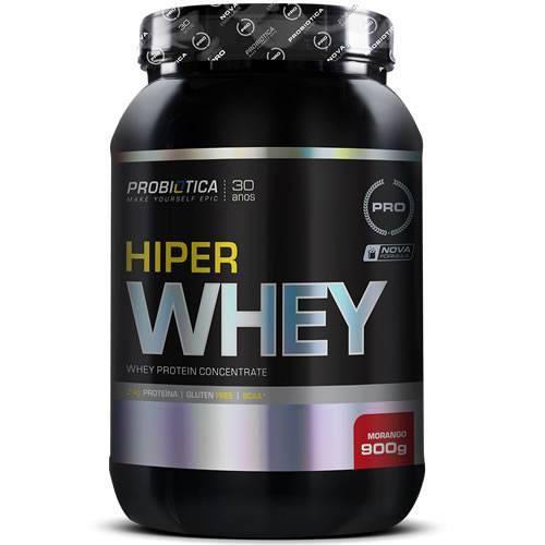 Hiper Whey Protein - 900g - Millennium - Probiótica - Morango