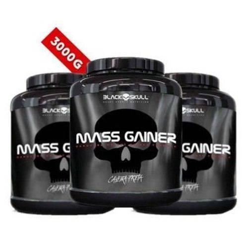 Hipercalórico Mass Gainer | Black Skull 3kg Cada = 9kg - Atacado/revenda !