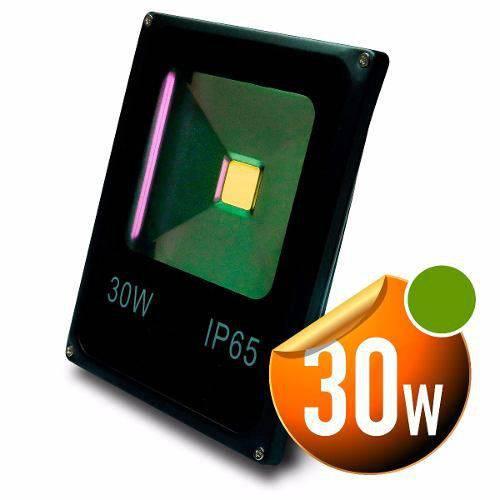 Holofote Refletor Super Led 30w Bivolt Verde Prova Dagua