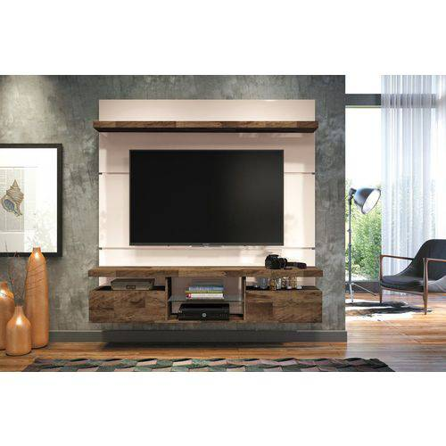 Home para Tv Suspenso Livin 1.6 Off White com Deck - Hb Móveis
