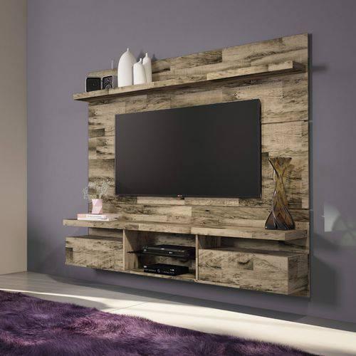 Home Suspenso Hb Móveis Livin 1.8 para Tv Até 55'' 2 Portas Basculantes Pátina