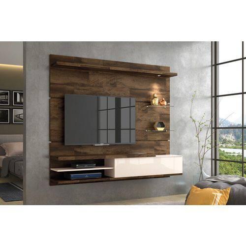 Home Suspenso para Tv Destak Deck com Off White - Hb Móveis
