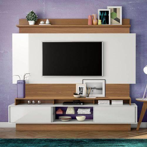 Home Theater com Painel para TV 220cm 2 Portas Correr TB113 Dalla Costa - Dalla Costa