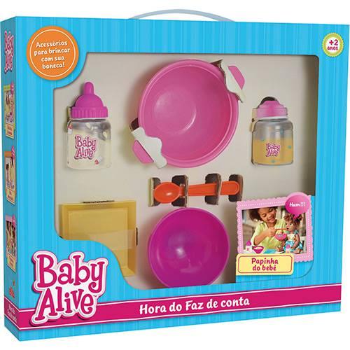 Hora do Faz de Conta Baby Alive Papinha - Elka