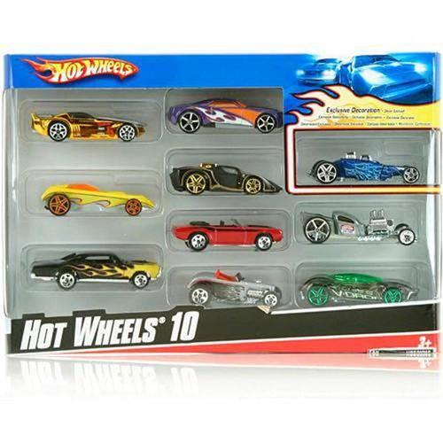 Hot Wheels C/10 Carrinhos Sortidos 54886 - Mattel