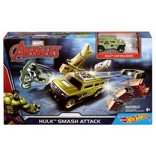 Hot Wheels Conjunto Hulk Ataque Esmagador Marvel - Mattel