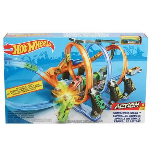 Hot Wheels Espiral de Choque 39 Cm - Mattel