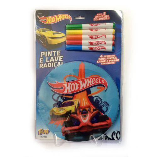 Hot Wheels Livro Pinte e Lave - Fun Toys