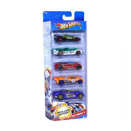 Hot Wheels Pacote 5 Carros - Hot Wheels 5 - Mattel