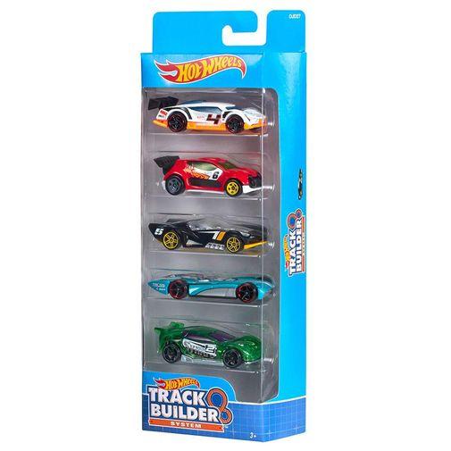 Hot Wheels Pacote 5 Carros - Track Builder Djd27 - Mattel