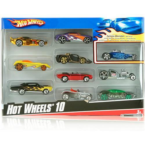 Hot Wheels Pacote de 10 Carros Sortidos - Ref.54886 - Mattel