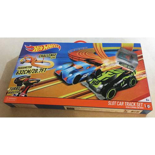 Hot Wheels Slot Car Track Set Turbo Booster Mattel