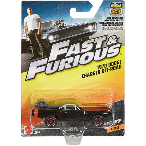 Hot Wheels - Velozes & Furiosos - Carros - 1970 Dodge Charger - Mattel