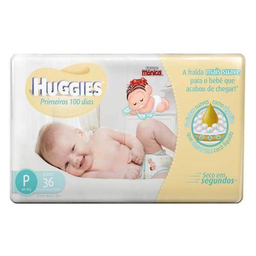 Huggies Primeiros 100 Dias Fralda Infantil G C/36