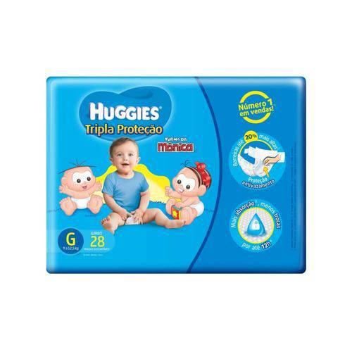 Huggies Tripla Proteção Fralda Infantil G C/28