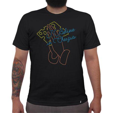 I Believe In Cheezus - Camiseta Clássica Masculina